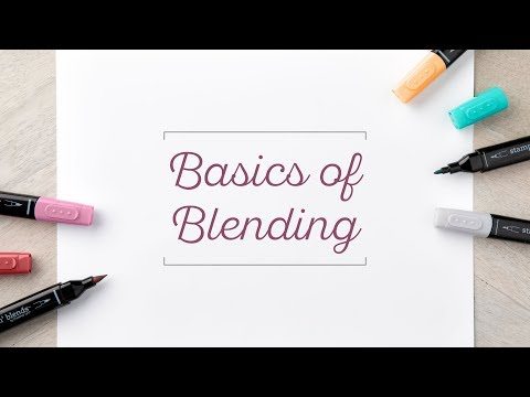 Basics of Alcohol Marker Blending by Stampin' Up!