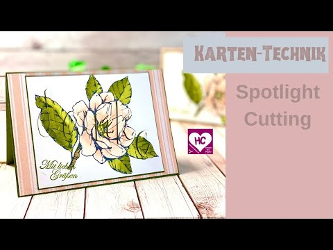 Spotlight Cutting Kartentechnik - so geht es