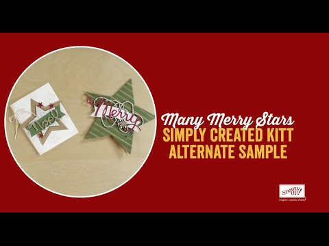 Many Merry Stars Simply Created® Kit Additional Ideas