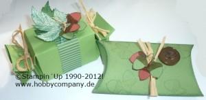 kleine Verpackungen mit Stempeln