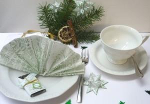 Tischdeko mit Stempeln