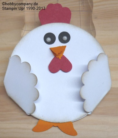 Basteltipp Huhn mit Motivstanzen von Stampin`Up