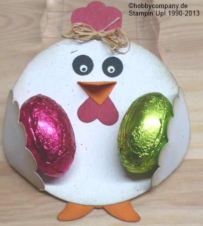 Basteltipp Huhn aus Motivstanzen von Stampin`Up!