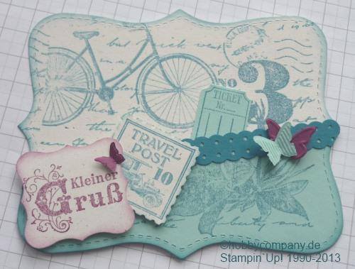 Grußkarte mit dem Stempelset Postage Due