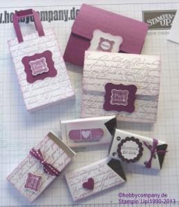 Tüten und Verpackungen für kleine Schokoladen