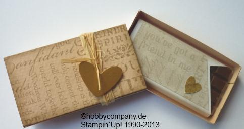 basteltipps verpackung f r kleine schokoladen basteln mit papier und stampin up. Black Bedroom Furniture Sets. Home Design Ideas