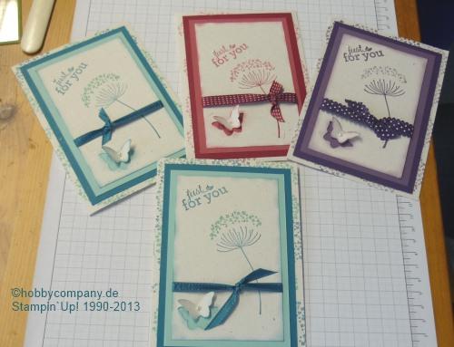 """Grußkarten mit dem Stempelset """"Summer Silhouettes"""" im Workshop"""