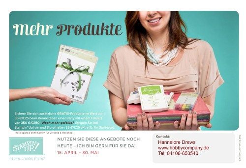 Neues Aktions Angebot April/Mai von Stampin`Up!