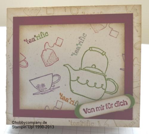 Onlineworkshop Verpackungen und Grußkarten zum Thema Kaffee und Tee