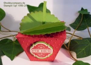 Erdbeerverpackung zum Bastel-Workshop online