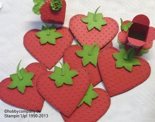 Erdbeer Rezepte Mit Der Big Shot Basteln Mit Papier Und Stampin Up