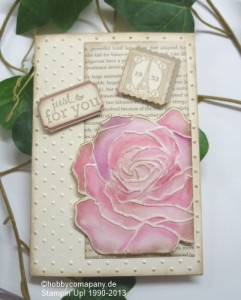 geprägte Rosenkarte