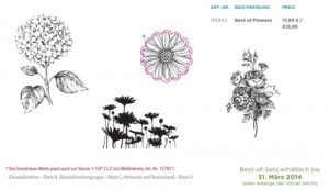 Stempelset Best-of-flowers von Stampin up