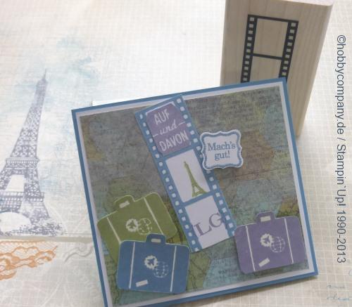 Stempel Filmstrip - Basteltipp Reisezeit