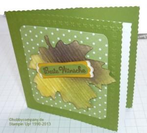 Grußkarte mit dem Rollenschneider und Mini-Muschelrand von Stampin Up
