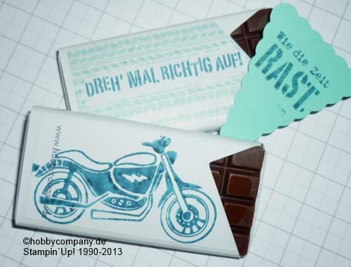 Kleine Tafeln Schokolade zum Bestempeln oder Bedrucken