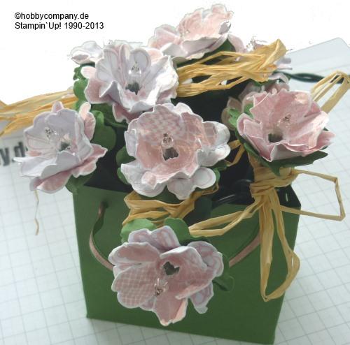 Lichterkette mit Stempelset Flowershop von Stampin up