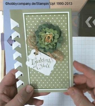 Grußkarte mit der Stanze Pfeilbordüre von Stampin Up