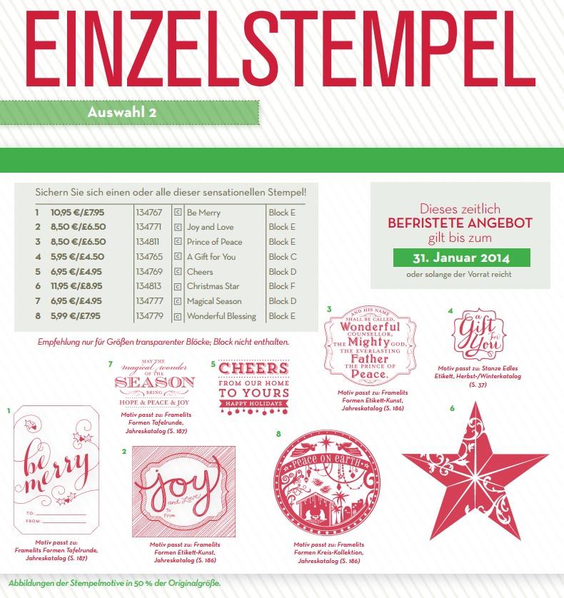Neue Einzelstempel für Weihnachten - Basteln mit Papier und Stampin Up!