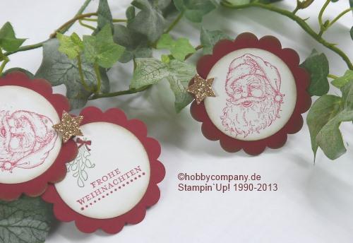 Weihnachtsanhänger mit Stempelset Best of Christmas