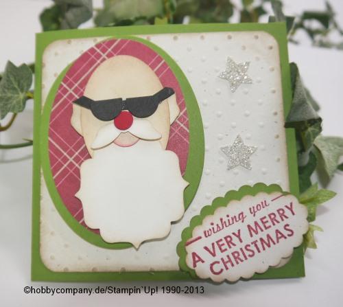 coole Weihnachtskarte mit Stanzen von Stampin`Up!
