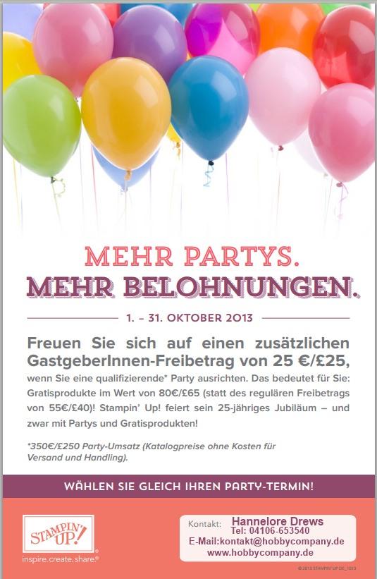 Noch mehr gratis für eine Party in der Oktoberaktion