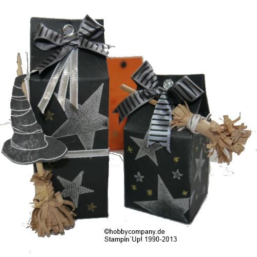 Stanzmotiv Milchkarton als Verpackung für Halloween
