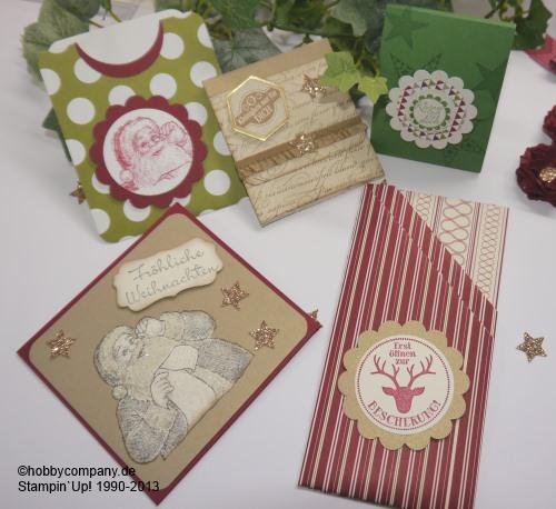 basteltipps f r weihnachten im workshop gru karten basteltipps und anleitungen von stampin up. Black Bedroom Furniture Sets. Home Design Ideas
