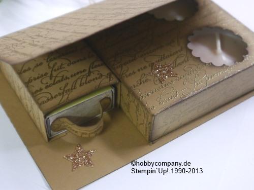 verpackung geschenkidee f r teelichter basteln mit papier und stampin up. Black Bedroom Furniture Sets. Home Design Ideas