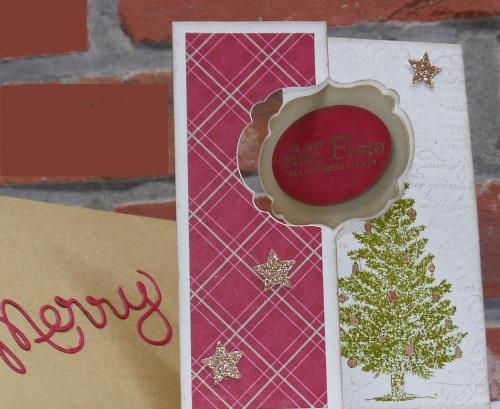 weihnachtliche Pop up Karte mit Thinlits