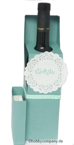 verpackung f r eine weinflasche basteln mit papier und stampin up. Black Bedroom Furniture Sets. Home Design Ideas
