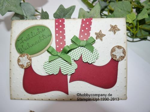 weihnachtskarte gestiefelt basteltipps und anleitungen. Black Bedroom Furniture Sets. Home Design Ideas