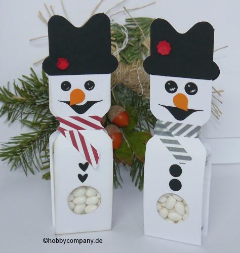 ein frischer, cooler Schneemann mit dem Stanz-und Falzbrett für Briefumschläge gemacht