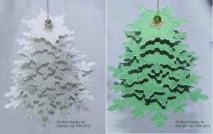"""Weihnachtsbaum mit dem Produktset """"Festive Flurry"""""""