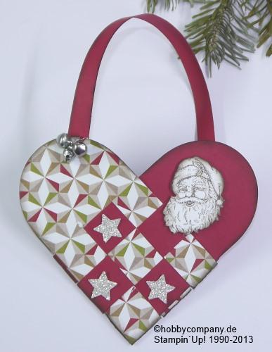 geflochtenes Herz aus Papier für Weihnachten