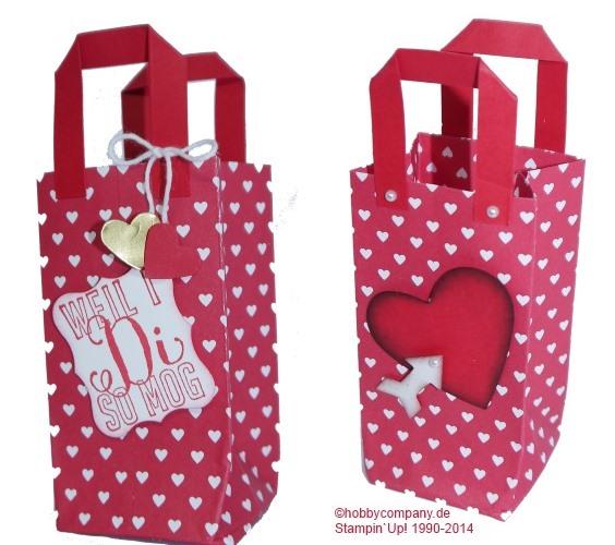 Eine Geschenktüte als Valentinsgruß