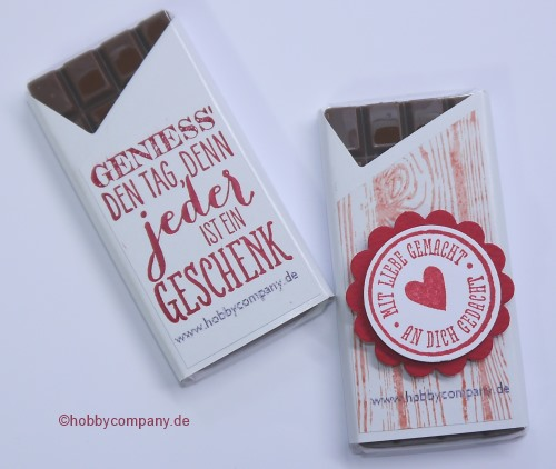 Schokoladengruß zum Valentinstag