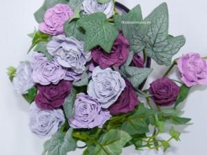 Papierblüten mit der Stanzform Spiralblume von Stampin Up