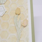Grußkarte mit dem Prägefolder Honigwabe