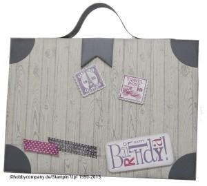 Koffer basteln als Geschenkverpackung