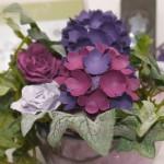"""Papierblüte Hortensien mit der Stanze """"kleine Blüte"""" von Stampin`Up!"""