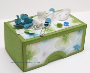 Nähkästchen als Geschenkverpackung