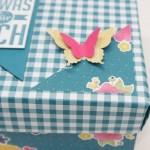 Origami-Box aus Designer-Papier von Stampin up