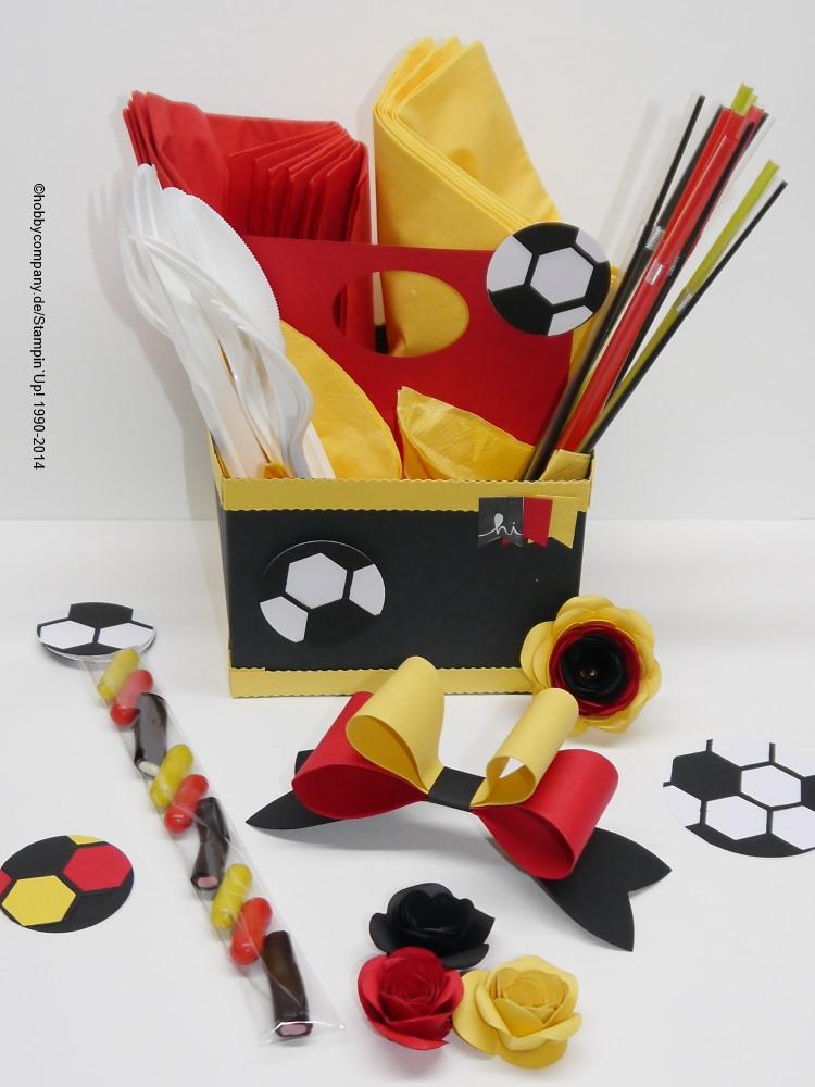 Basteltipp fu ball weltmeisterschaft basteln mit for Deutschland deko
