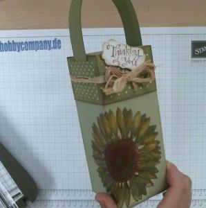 Geschenkverpackung Container mit dem Papierschneider von Stampin Up