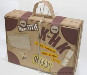 Geschenkverpackung für Weinflaschen ein Koffer