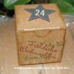 Kleine Verpackungen für Adventskalender zum selbermachen