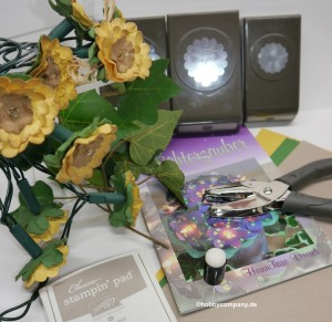 Sonnenblumen-Lichterkette