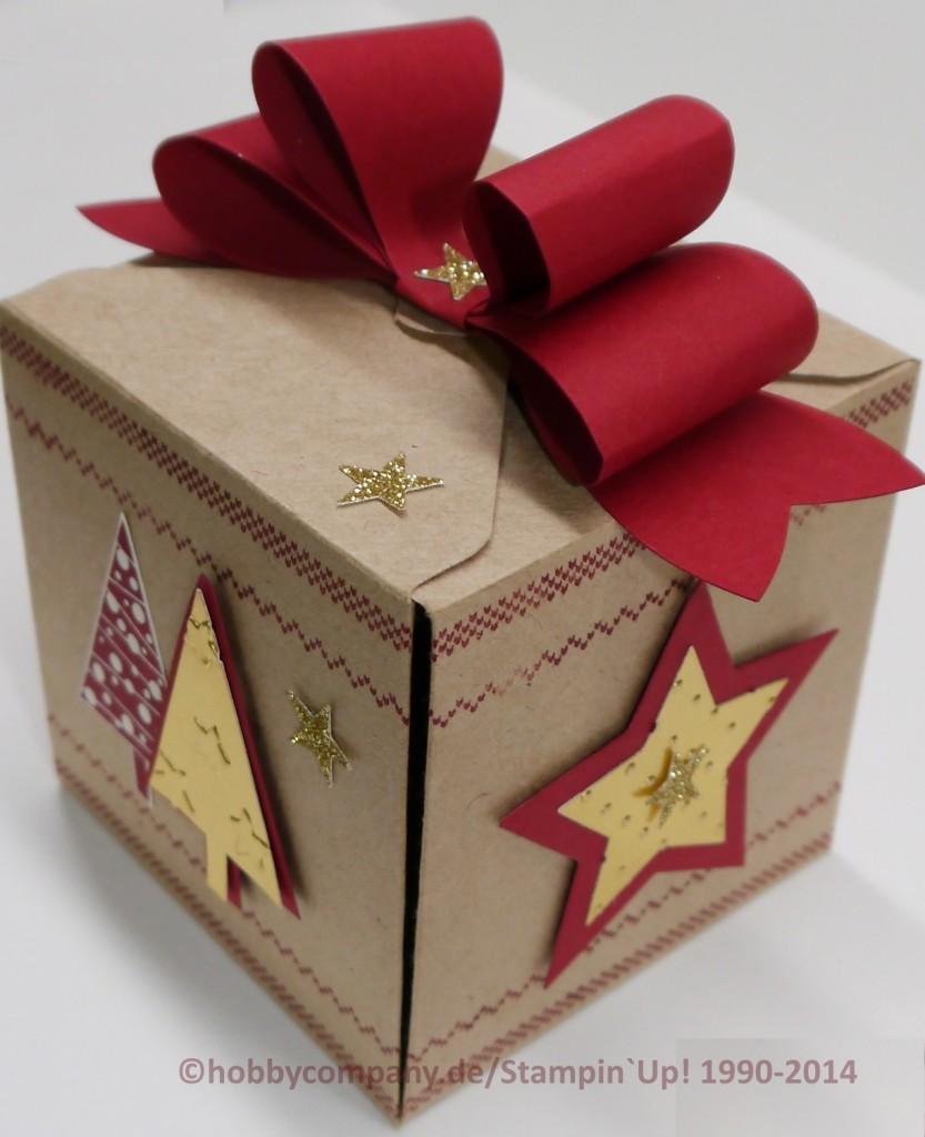 geschenkbox weihnachten basteln mit der hobbycompany quickborn und stampin up produkten. Black Bedroom Furniture Sets. Home Design Ideas