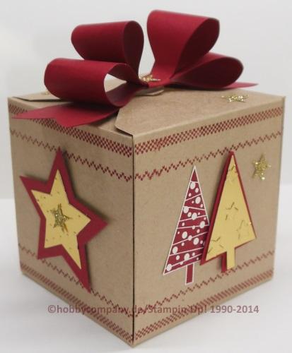 weihnachtliche geschenkverpackung mit dem gift box punch board basteltipps und anleitungen von. Black Bedroom Furniture Sets. Home Design Ideas